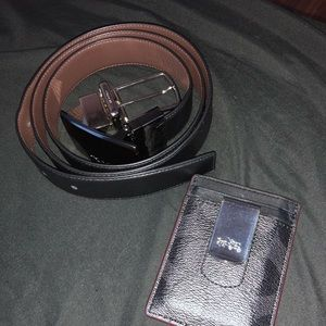 Coach belt and wallet